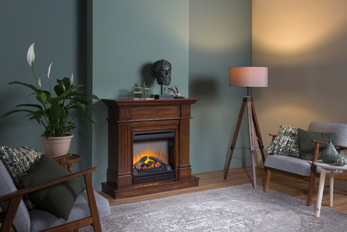 Image of   Collingwood Optiflame LED - Valnød
